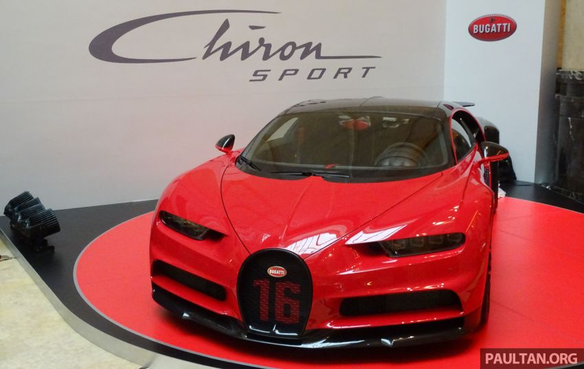 Bugatti Chiron Sport makes an appearance at the first-ever Fullerton Concours d'Elegance in Singapore Image #832815