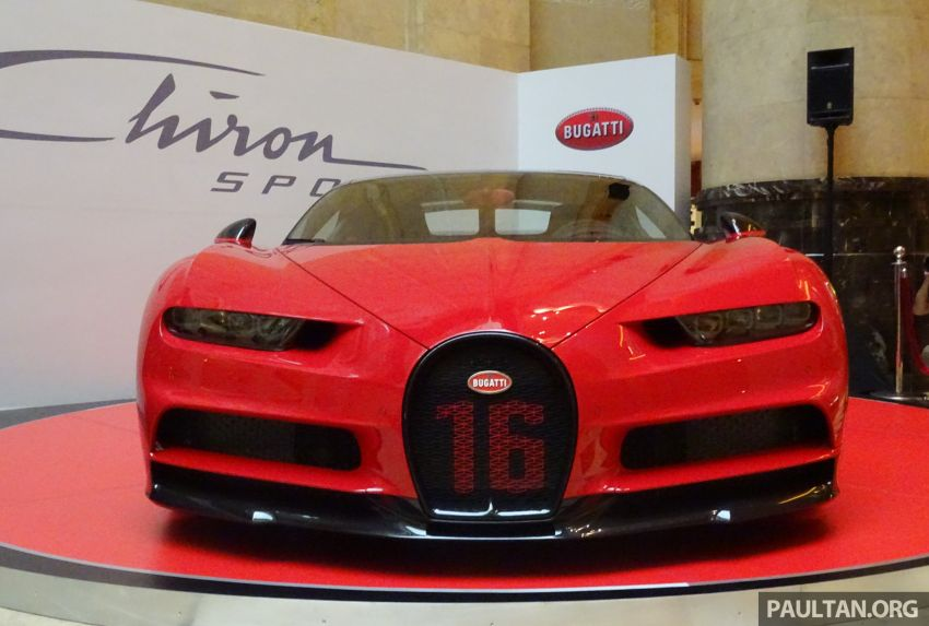 Bugatti Chiron Sport makes an appearance at the first-ever Fullerton Concours d'Elegance in Singapore Image #832818