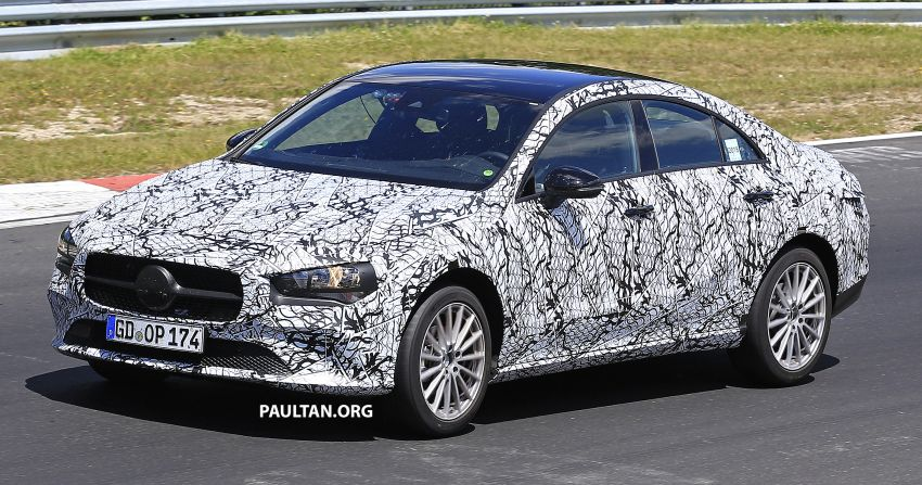 SPIED: C118 Mercedes-Benz CLA drops more camo Image #832525