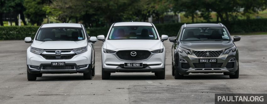 Driven Web Series 2018: best family SUVs in Malaysia – new Honda CR-V vs Mazda CX-5 vs Peugeot 3008 Image #823249