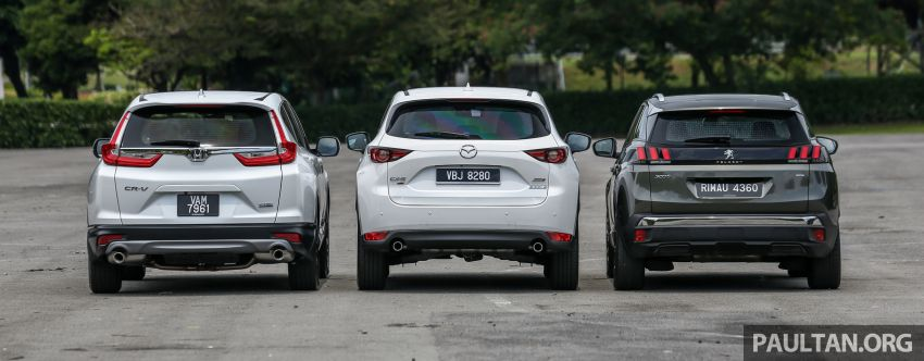 Driven Web Series 2018: best family SUVs in Malaysia – new Honda CR-V vs Mazda CX-5 vs Peugeot 3008 Image #823250