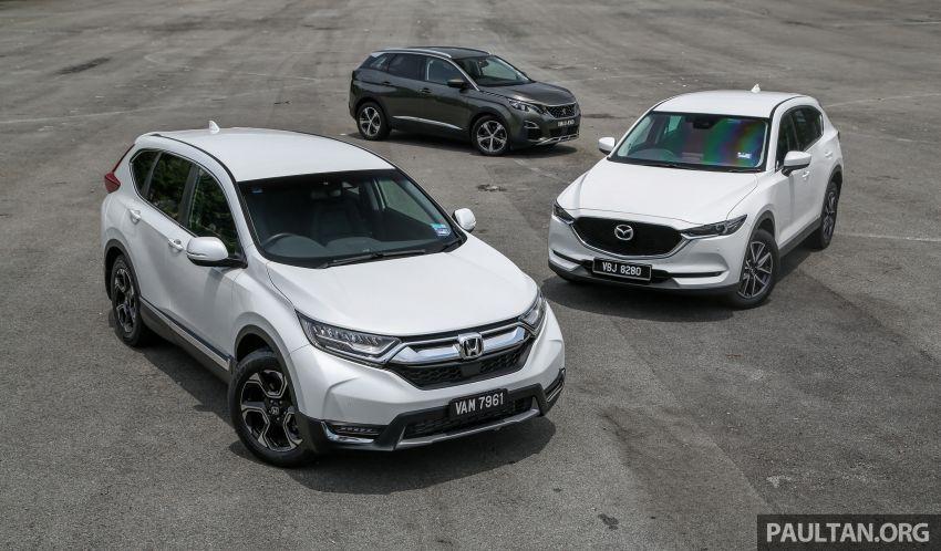 Driven Web Series 2018: best family SUVs in Malaysia – new Honda CR-V vs Mazda CX-5 vs Peugeot 3008 Image #823251