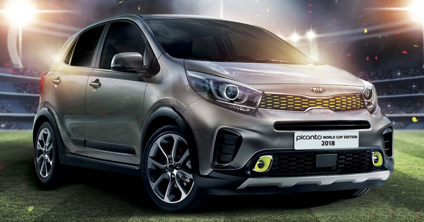 Kia Picanto World Cup Edition 2018 revealed for Malaysia – X-Line trim, AEB, leather seats, sunroof Image #833106