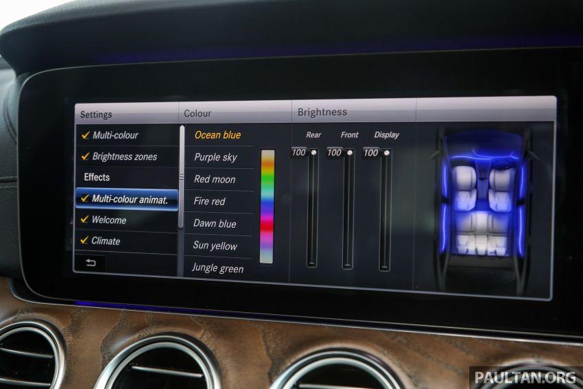 W213 Mercedes-Benz E-Class gets MY2018 updates – EQ Power branding for E350e, new ambient lighting Image #827276
