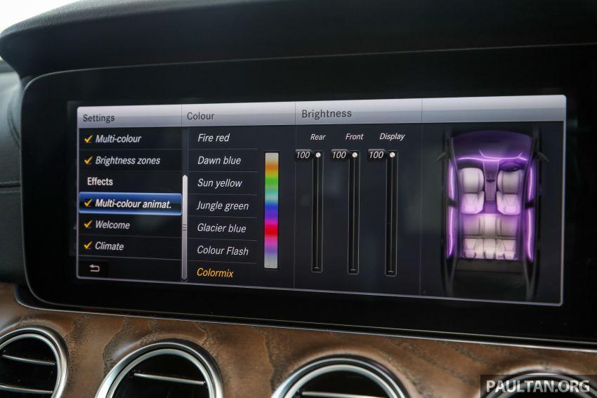W213 Mercedes-Benz E-Class gets MY2018 updates – EQ Power branding for E350e, new ambient lighting Image #827277