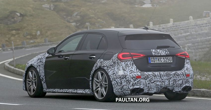 SPIED: New Mercedes-AMG A45 is really aggressive Image #828810