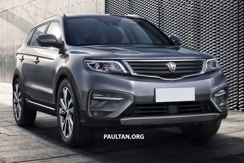 Proton SUV rendered with new grille – launching Oct Image #831279