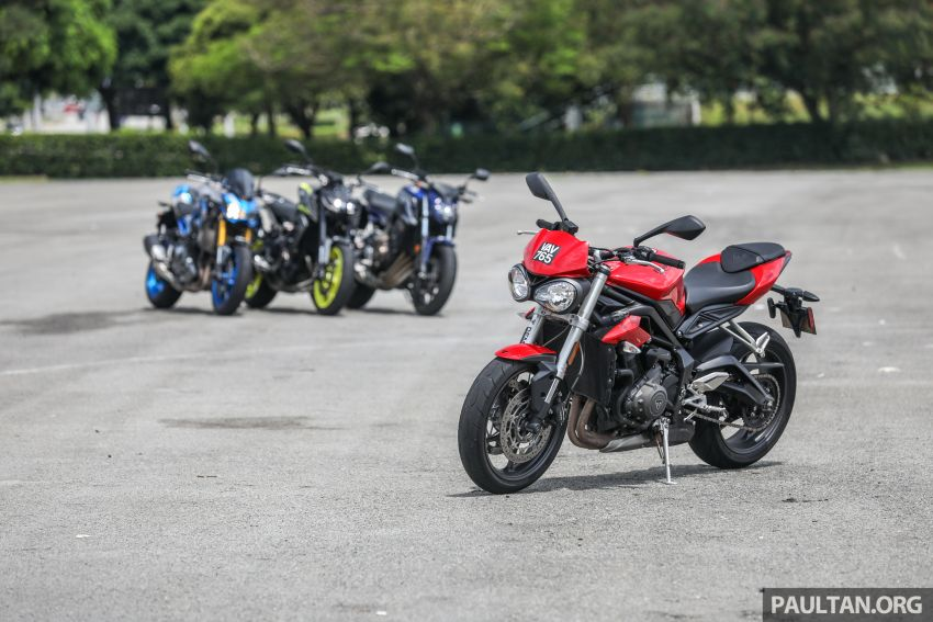 Honda CB650F, Kawasaki Z900 ABS, Triumph 765S, Yamaha MT-09 – which RM50k bike is best for you? Image #829400