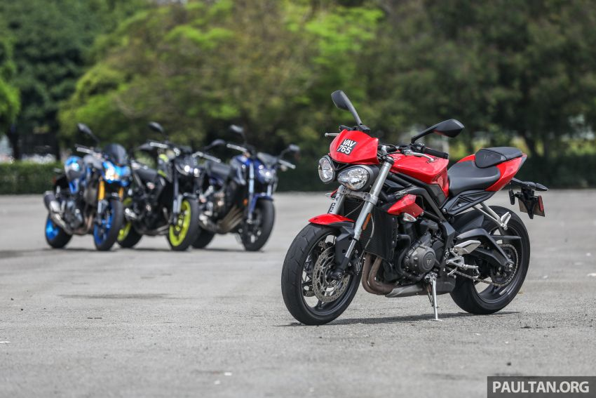 Honda CB650F, Kawasaki Z900 ABS, Triumph 765S, Yamaha MT-09 – which RM50k bike is best for you? Image #829402
