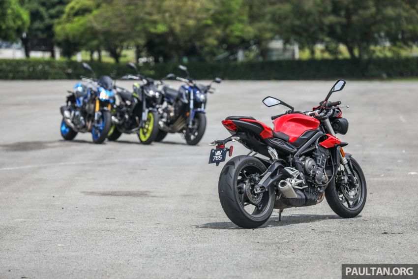Honda CB650F, Kawasaki Z900 ABS, Triumph 765S, Yamaha MT-09 – which RM50k bike is best for you? Image #829405