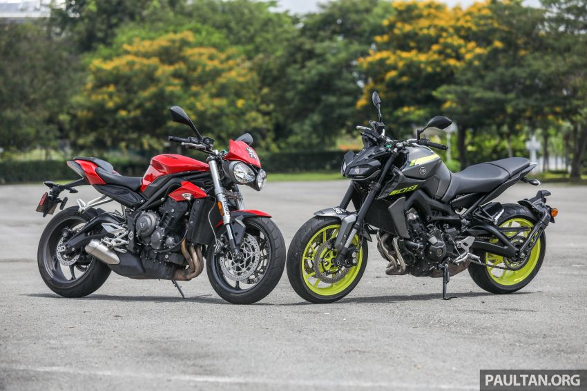 Honda CB650F, Kawasaki Z900 ABS, Triumph 765S, Yamaha MT-09 – which RM50k bike is best for you? Image #829412