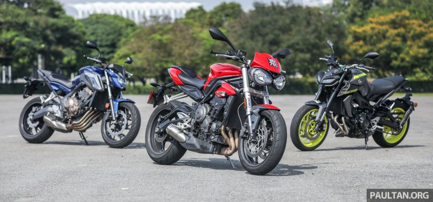 Honda CB650F, Kawasaki Z900 ABS, Triumph 765S, Yamaha MT-09 – which RM50k bike is best for you? Image #829376