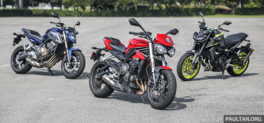 Honda CB650F, Kawasaki Z900 ABS, Triumph 765S, Yamaha MT-09 – which RM50k bike is best for you? Image #829377