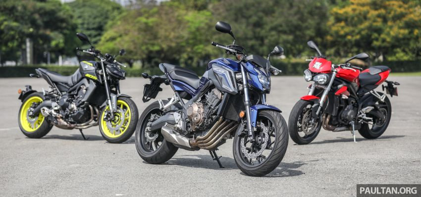 Honda CB650F, Kawasaki Z900 ABS, Triumph 765S, Yamaha MT-09 – which RM50k bike is best for you? Image #829382