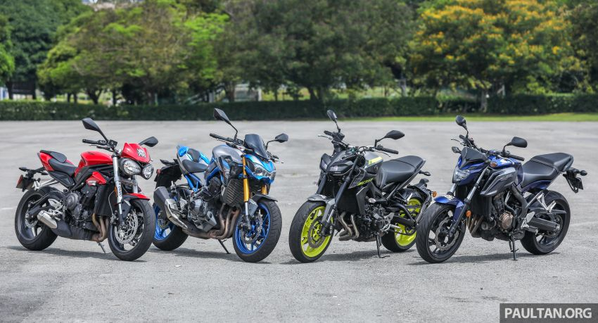 Honda CB650F, Kawasaki Z900 ABS, Triumph 765S, Yamaha MT-09 – which RM50k bike is best for you? Image #829371