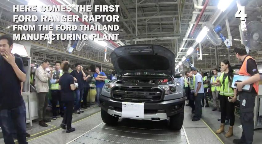 2018 Ford Ranger Raptor – Thai production kicks off Image #835517