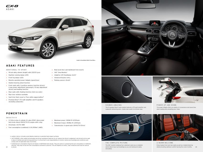 Mazda CX-8 three-row SUV available in Australia – diesel only, three variants offered, priced from AUD42k Image #833770
