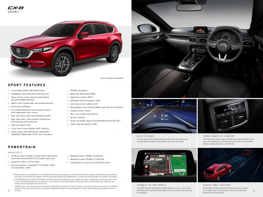 Mazda CX-8 three-row SUV available in Australia – diesel only, three variants offered, priced from AUD42k Image #833769