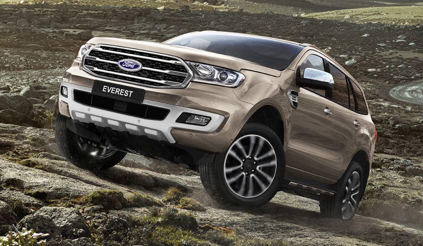Ford Everest facelift diperkenalkan di Thailand – kini dengan 2.0L EcoBlue turbodiesel, 10-kelajuan auto Image #837736