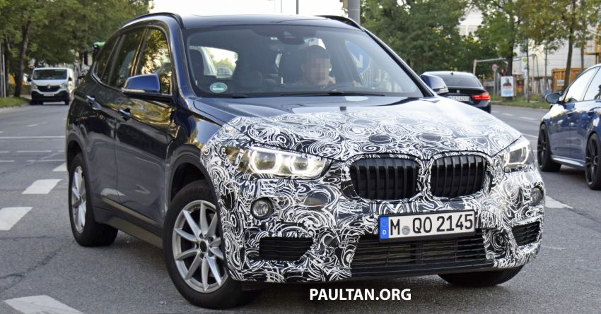 spyshots f48 bmw x1 lci spotted out and about. Black Bedroom Furniture Sets. Home Design Ideas