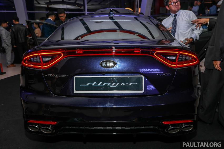 Kia Stinger launched in Malaysia – 251 hp 2.0 GT-Line and 365 hp 3.3 V6 GT, CBU, RWD, RM240k to RM310k Image #837323