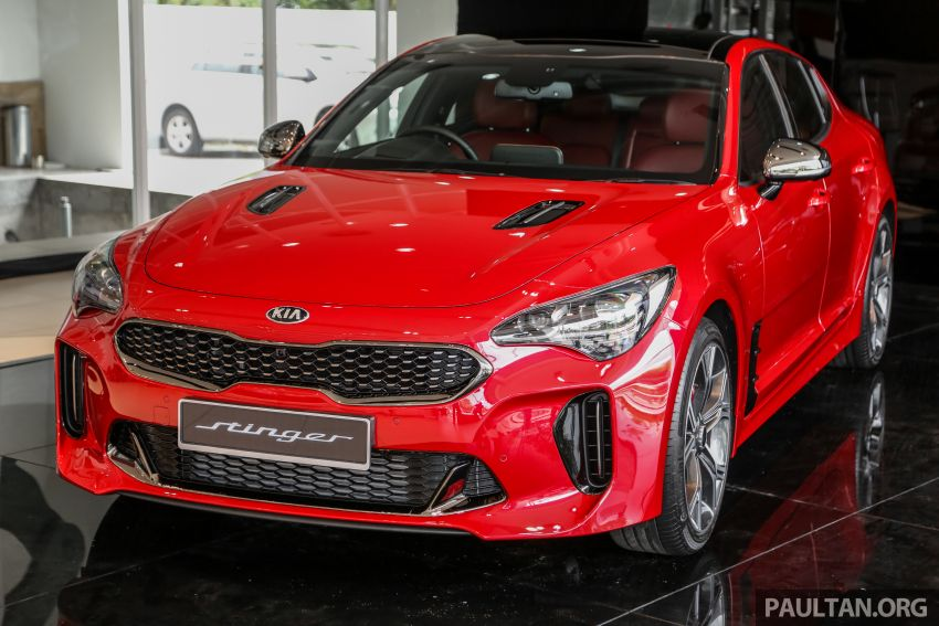 Kia Stinger launched in Malaysia – 251 hp 2.0 GT-Line and 365 hp 3.3 V6 GT, CBU, RWD, RM240k to RM310k Image #837076