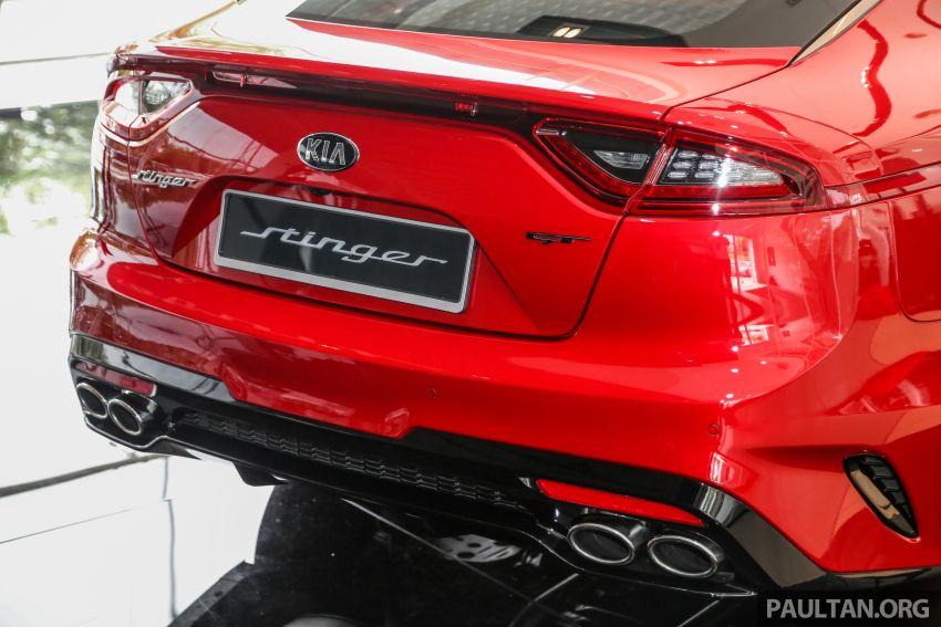 Kia Stinger launched in Malaysia – 251 hp 2.0 GT Line and 365 hp 3.3 V6 GT, CBU, RWD, RM240k to RM310k Image #837099