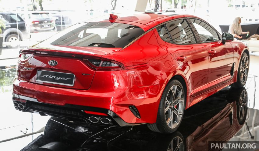 Kia Stinger launched in Malaysia – 251 hp 2.0 GT Line and 365 hp 3.3 V6 GT, CBU, RWD, RM240k to RM310k Image #837079