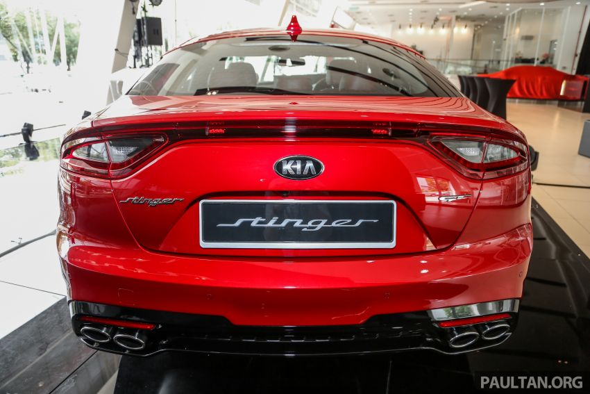 Kia Stinger launched in Malaysia – 251 hp 2.0 GT-Line and 365 hp 3.3 V6 GT, CBU, RWD, RM240k to RM310k Image #837081