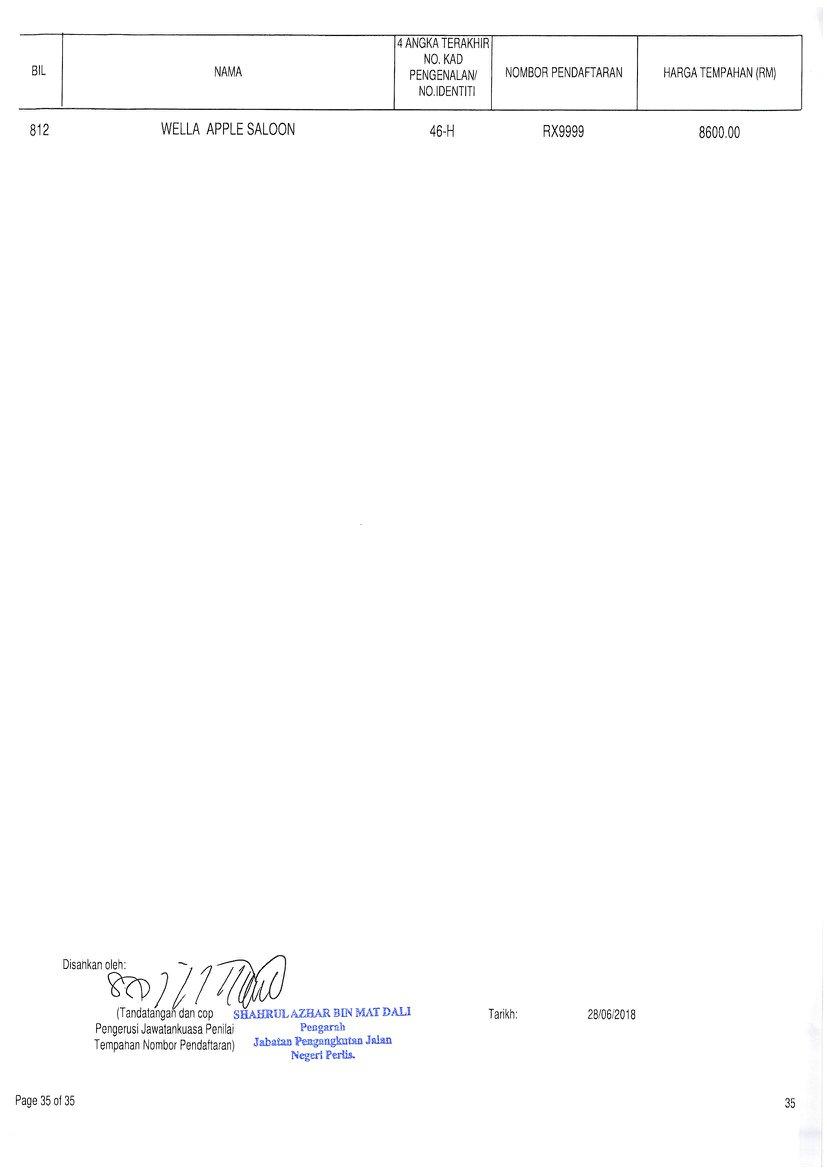 JPJ keluarkan keputusan tender siri plat nombor RX Image #834709
