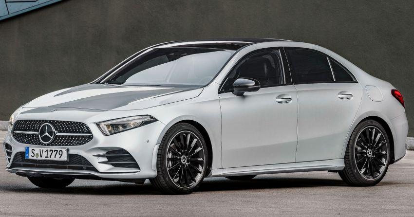 Mercedes benz a class sedan v177 akhirnya muncul for Mercedes benz sedan models