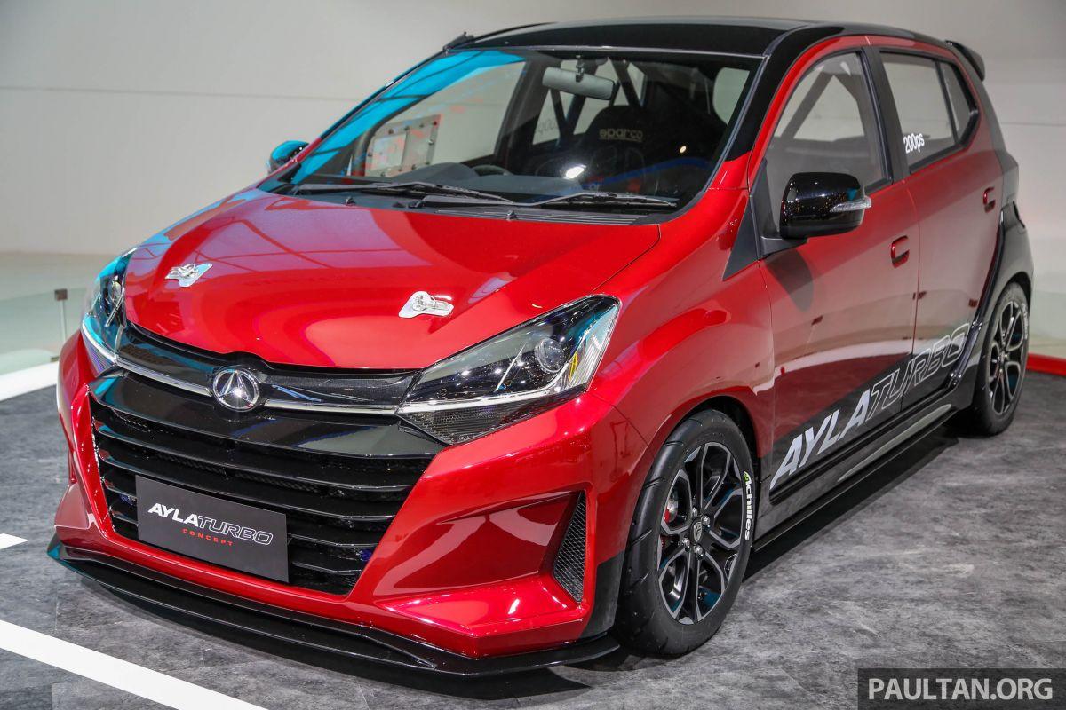 GIIAS 2018: Daihatsu Ayla Turbo Concept, 200 Hp Axia