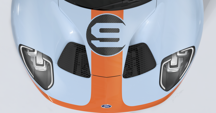 2019 Ford GT Heritage Edition with iconic Gulf livery Image #855381