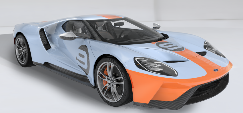 2019 Ford GT Heritage Edition with iconic Gulf livery Image #855382