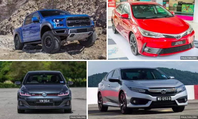 Top 50 best-selling cars in the world during 1H 2018 Image #851464
