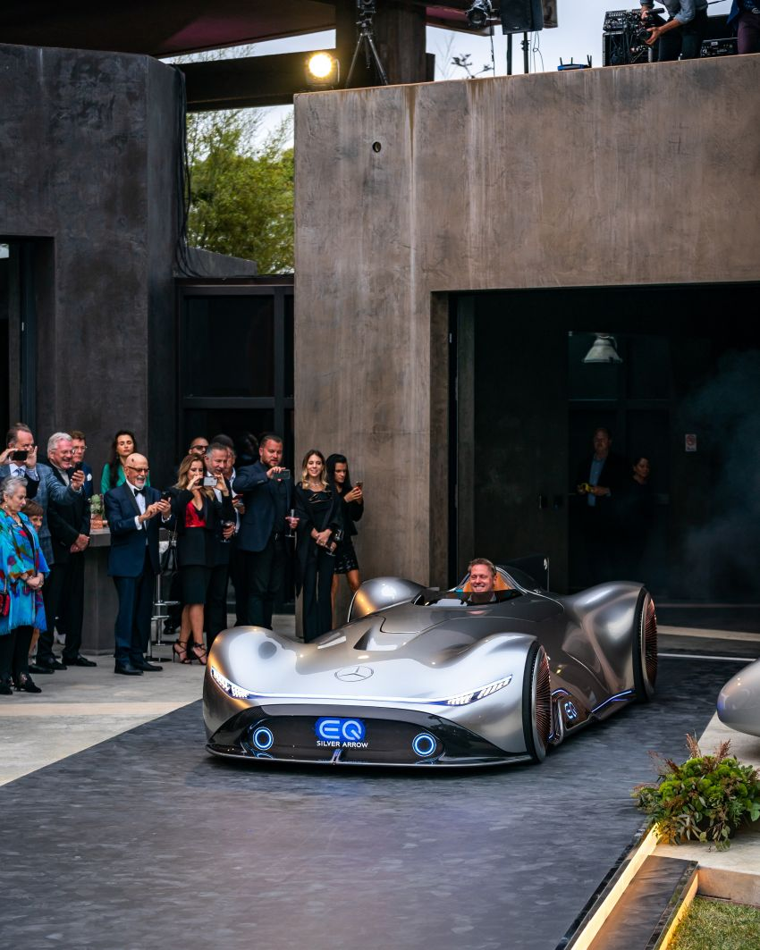 Mercedes-Benz Vision EQ Silver Arrow revealed at Pebble Beach – all-electric, single-seat, 738 hp concept Image #855391
