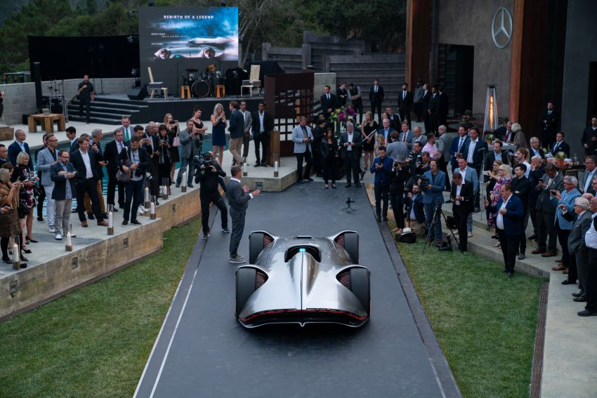 Mercedes-Benz Vision EQ Silver Arrow revealed at Pebble Beach – all-electric, single-seat, 738 hp concept Image #855400