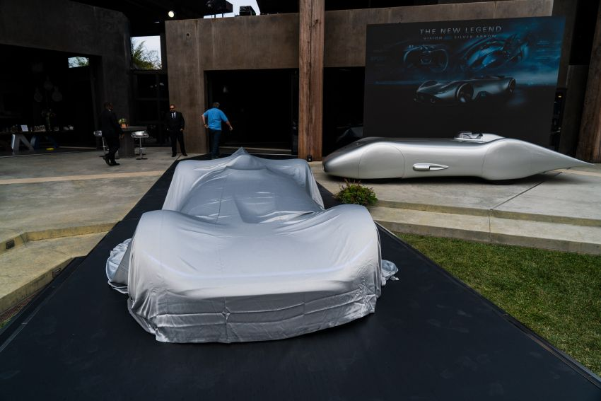 Mercedes-Benz Vision EQ Silver Arrow revealed at Pebble Beach – all-electric, single-seat, 738 hp concept Image #855407