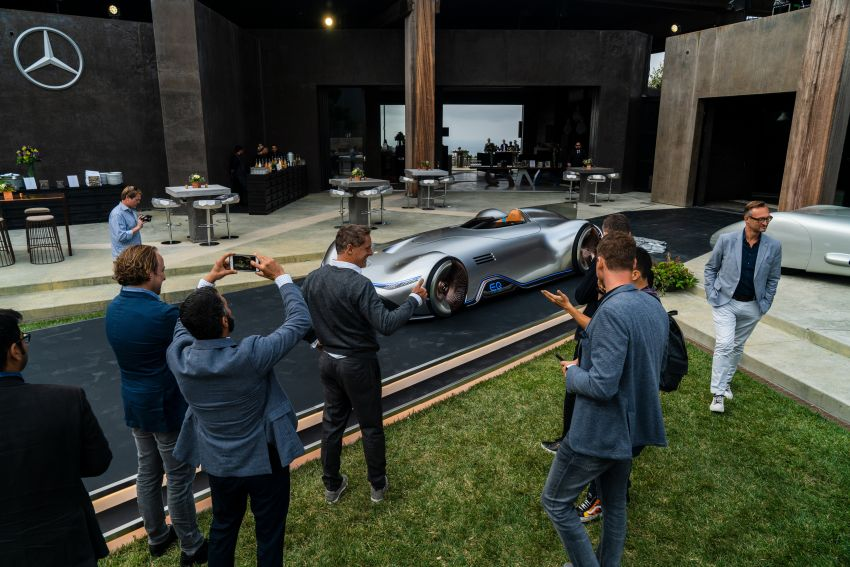 Mercedes-Benz Vision EQ Silver Arrow revealed at Pebble Beach – all-electric, single-seat, 738 hp concept Image #855411