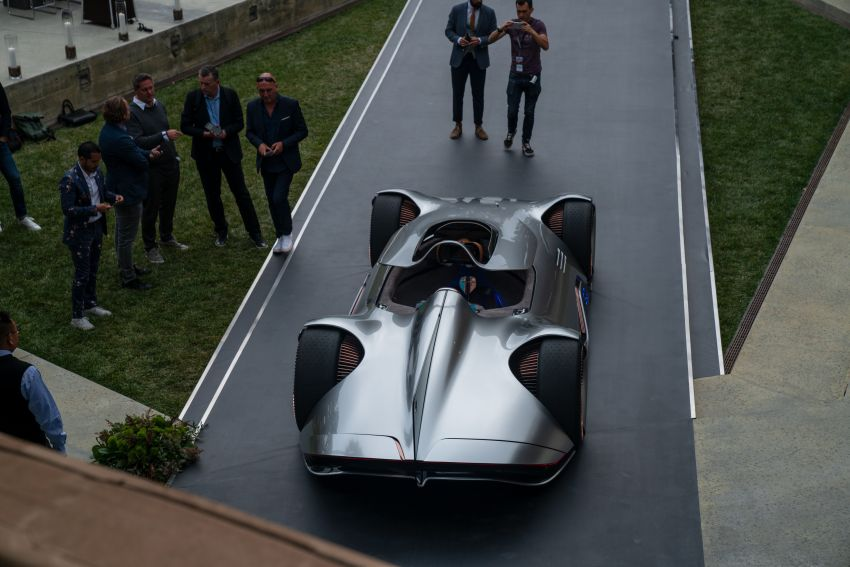 Mercedes-Benz Vision EQ Silver Arrow revealed at Pebble Beach – all-electric, single-seat, 738 hp concept Image #855415
