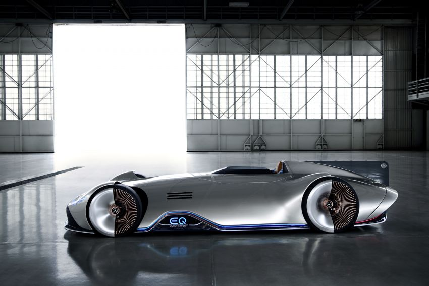 Mercedes-Benz Vision EQ Silver Arrow revealed at Pebble Beach – all-electric, single-seat, 738 hp concept Image #855424
