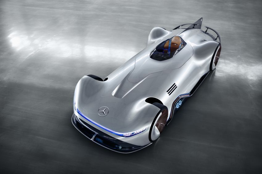 Mercedes Benz Silver Arrow >> Mercedes-Benz Vision EQ Silver Arrow revealed at Pebble Beach – all-electric, single-seat, 738 ...