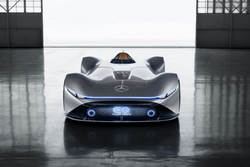 Mercedes-Benz Vision EQ Silver Arrow revealed at Pebble Beach – all-electric, single-seat, 738 hp concept Image #855431