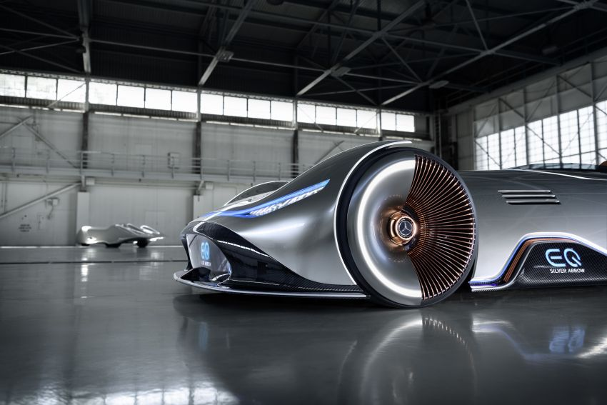 Mercedes-Benz Vision EQ Silver Arrow revealed at Pebble Beach – all-electric, single-seat, 738 hp concept Image #855434