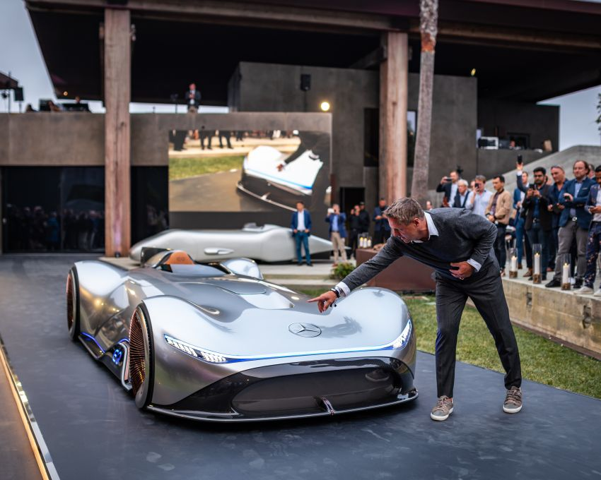 Mercedes-Benz Vision EQ Silver Arrow revealed at Pebble Beach – all-electric, single-seat, 738 hp concept Image #855396