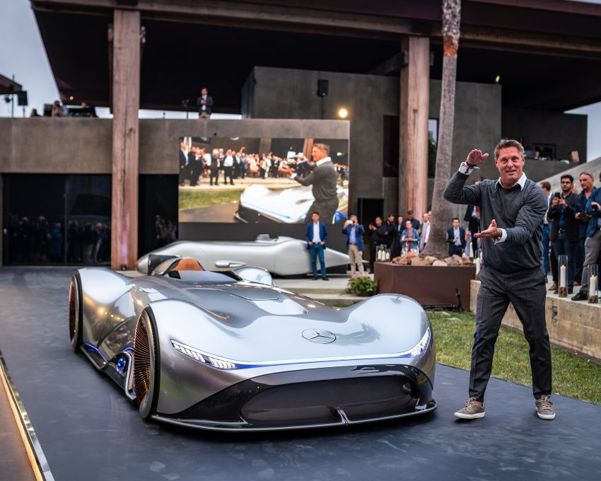 Mercedes-Benz Vision EQ Silver Arrow revealed at Pebble Beach – all-electric, single-seat, 738 hp concept Image #855397