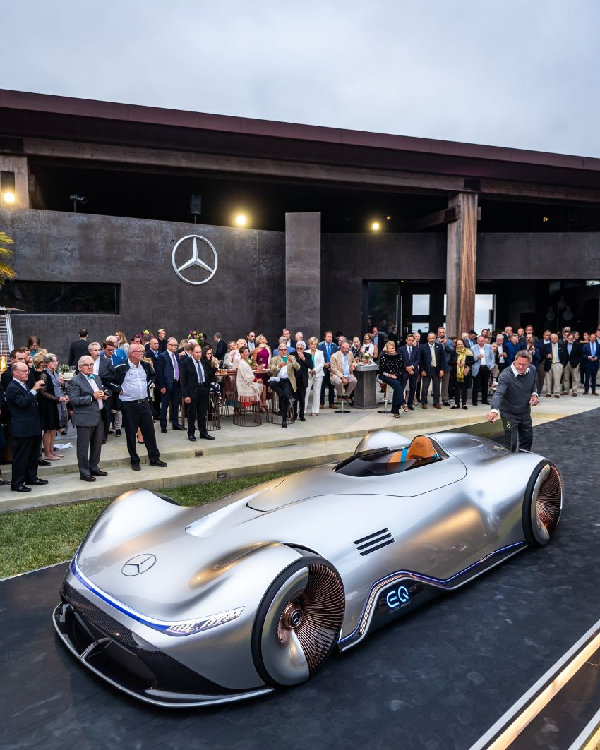 Mercedes-Benz Vision EQ Silver Arrow revealed at Pebble Beach – all-electric, single-seat, 738 hp concept Image #855398