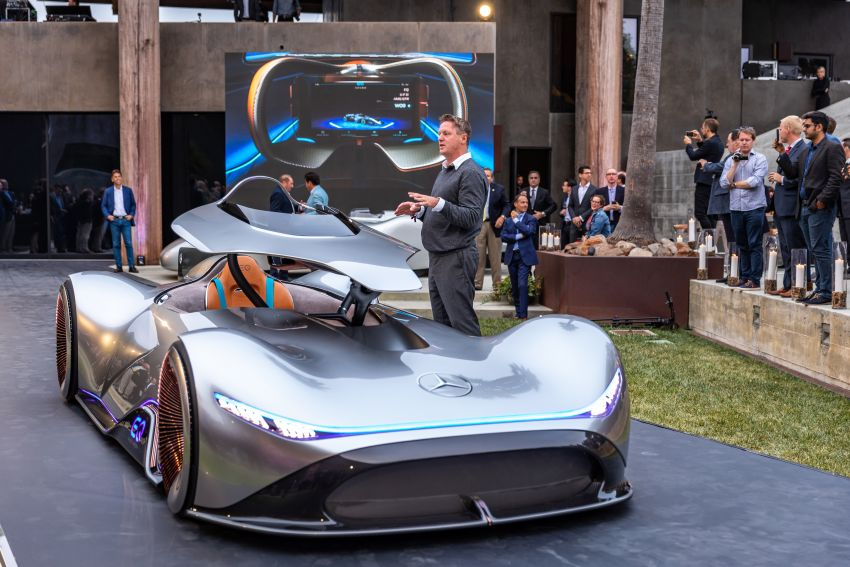 Mercedes-Benz Vision EQ Silver Arrow revealed at Pebble Beach – all-electric, single-seat, 738 hp concept Image #855399