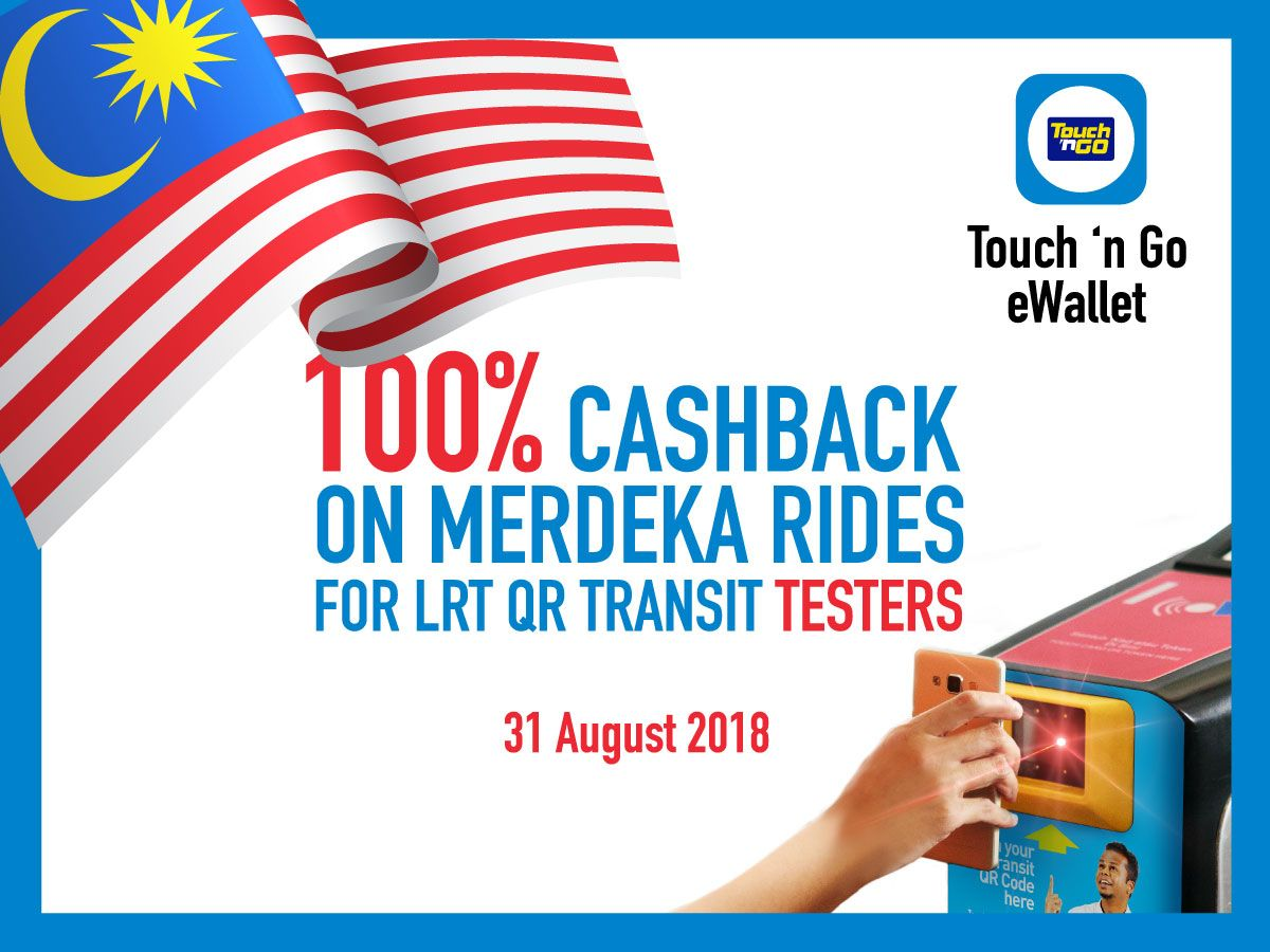 Touch N Go Ewallet Users To Be Offered 100 Cashback For Selected Lrt Rides On National Day
