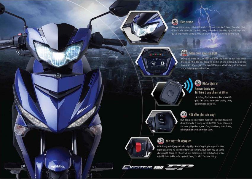 Yamaha Exciter 150 atau Y15ZR 2019 ditunjuk secara rasmi – enjin masih 150 cc, banyak kelengkapan baru Image #847105